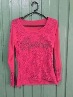 Pink Longsleeves (Ages 6-7)