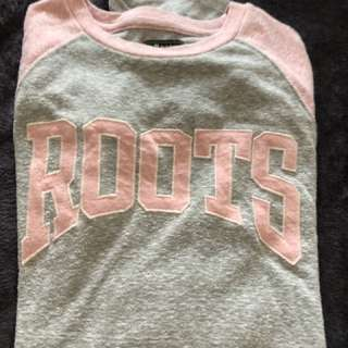 🚚 Roots 長袖上衣 粉 加拿大
