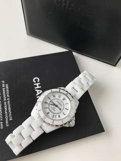 Chanel j12 white ceramic 38mm 手錶 mechanical