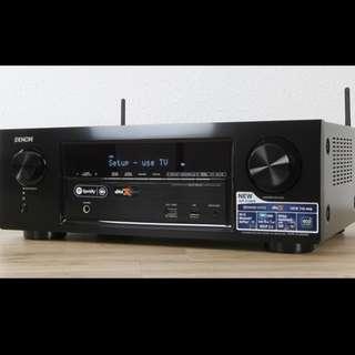 Denon AVR-X1300W 擴音 行貨99%新 可藍牙插USB