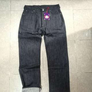 Evisu features jeans(pre wash)