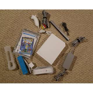 Nintendo Wii FREE FIVE RARE GAMES FREE Two Controllers FREE Nunchuck