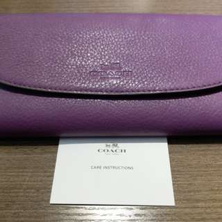 Coach purple 8x4 inch