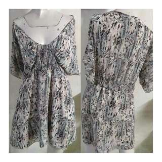 SALE preloved classy summer printed chiffon blouse/dress