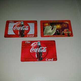 Coca Cola Cards ( lot of 3 )