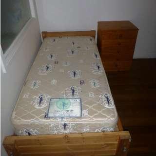 bed/bedside table set