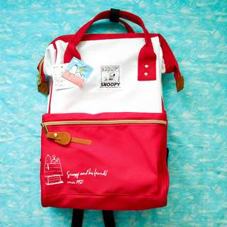 Snoopy Red Backpack