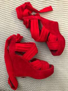 Red Wrap Shoes