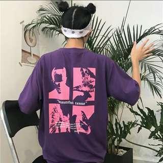 酷炫紫色圖t