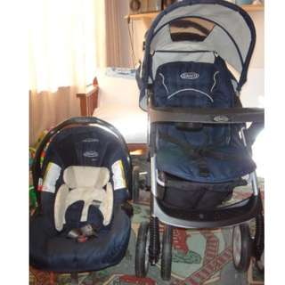 Graco Ultima Plus Travel System with detachable car seat
