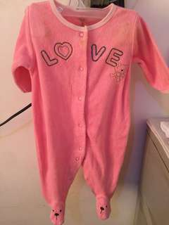 pink baby body suits