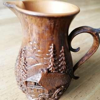 Wooden Vase frm 1960s