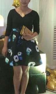Dress (mini dress) long sleeve black
