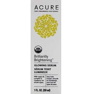 Brilliantly Brightening Glowing Serum  30ml   Organics Anti Aging Youthful looking