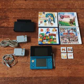 Nintendo 3DS (Japanese Version) with 4 Original Japanese Games