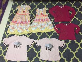 Set 3 pair girl clothes 3&5years