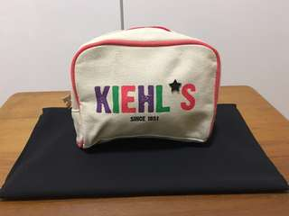 Kiehl's cosmetic pouch