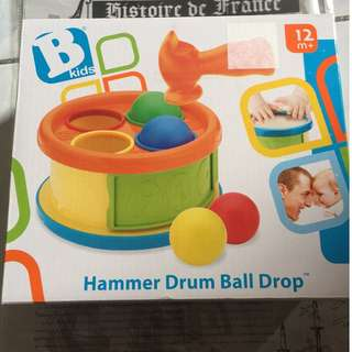 Bkids Hammer Drum Ball Drop