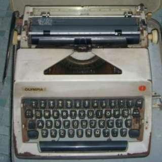Olympia古董打字機 Vintage Typewriter w Case