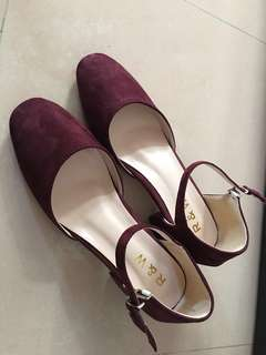 全新 紅色 高根鞋