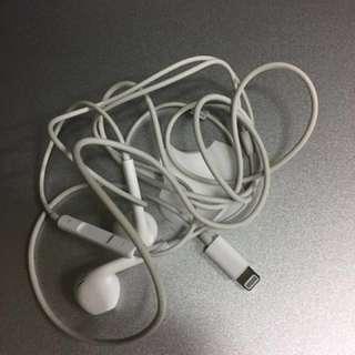 原裝二手壞單邊有聲 iPhone 7 8 x plus 耳筒免提耳機 earphones