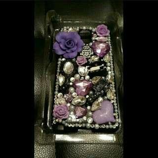 Samsung Note 3 閃石 Bling Bling 黑色帶紫色 手機電話殼