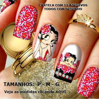 Betty Boop nail art stamping plate template