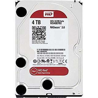 WD RED 4TB server grade HDD (lightly used)