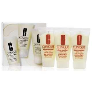 Clinique Deep Comfort Hand & Cuticle Cream trio set