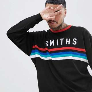 Oversized Long-Sleeved T-Shirt with Smiths Print