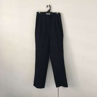 Vintage Navy Blue Tailored Pants