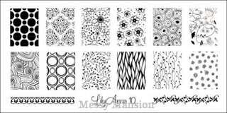 Lilyanna DIY Nail Art Stamping Plate Discontinued LA10