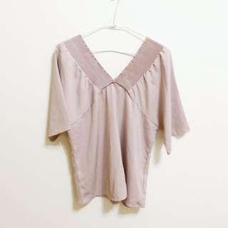 🚚 粉色學紡上衣