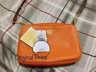 Authentic MK Crossbody Bag ( Tangerine )