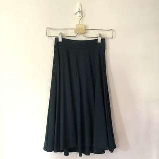 裙子-草草深綠搖擺裙