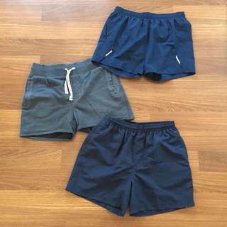 Few pairs of shorts