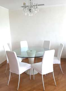 Italian dining table 130cm w/ 6 chairs