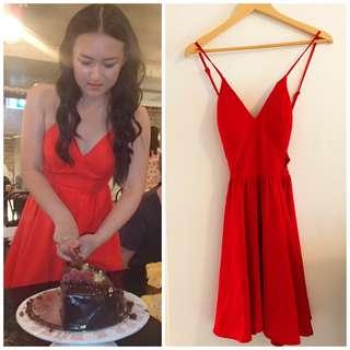 Red Summer Dress (in built bra)