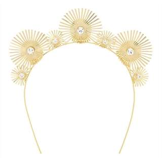 New! Mimco 'A New Leaf Crown' Gold Headband
