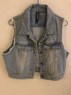 Padini Authentics cropped denim vest