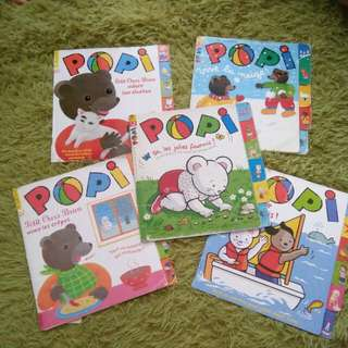 French Book - Popi, Petit Ours Brun Adore Som Chaton