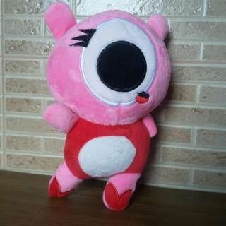 Pink One-Eyed Stuffed Toy