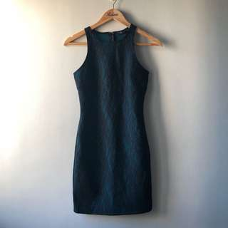 F21 Lace Dress — Blue Green