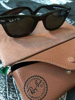 Authentic Rayban Wayfarer Polarized sunglasses