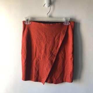 Ginatricot Skirt — Orange