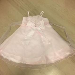 Wedding party princess formal pink dress