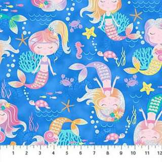 Mermaid Fabric Cotton Woven