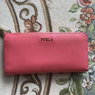 Furla Carol pink zip wallet 拉鏈長銀包