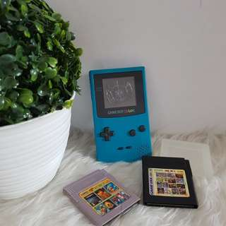Nintendo game boy color + 2 kaset