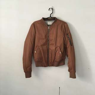Pull & Bear Brown Bomber Jacket